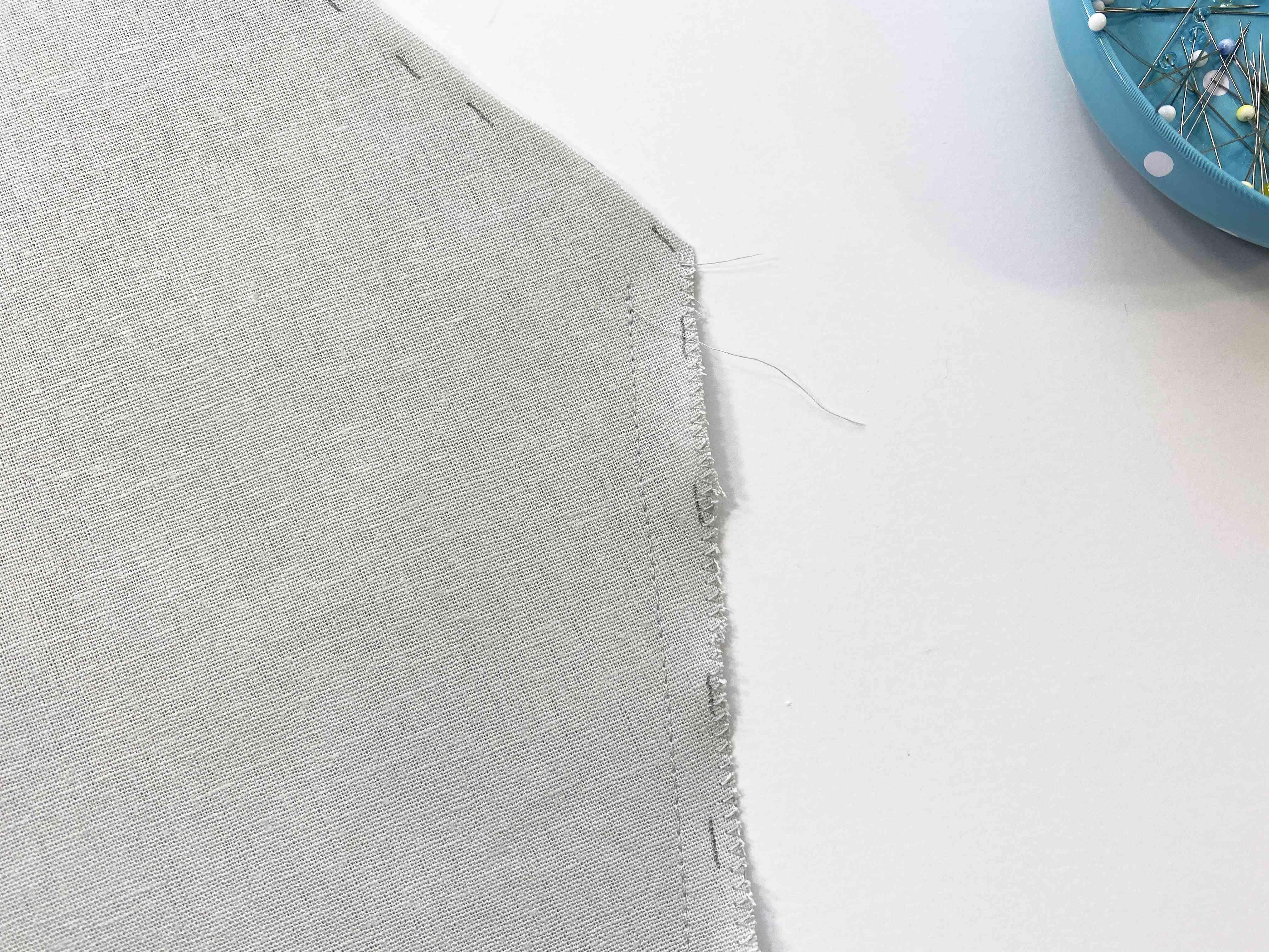 A sewn side seam