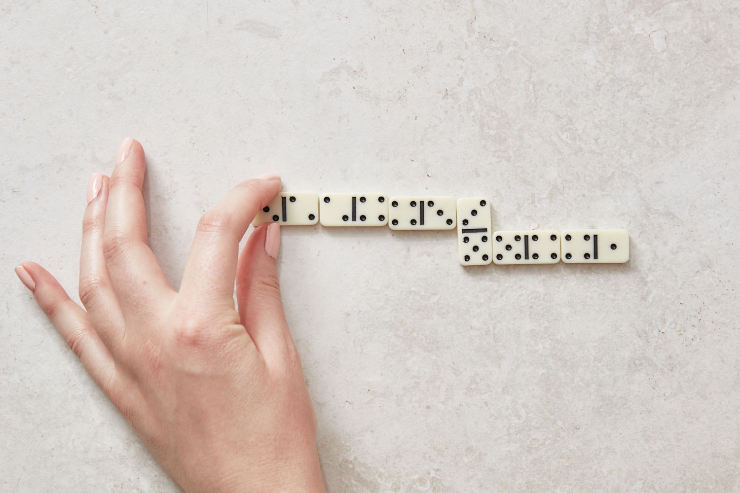 lining up dominoes