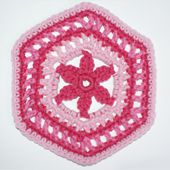 Hexagon Motif for Crocheting Blankets and Other Projects