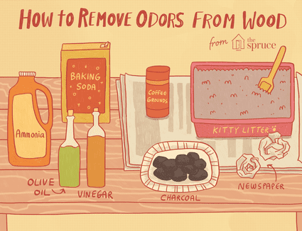 Illustration of how to remove odors from wood