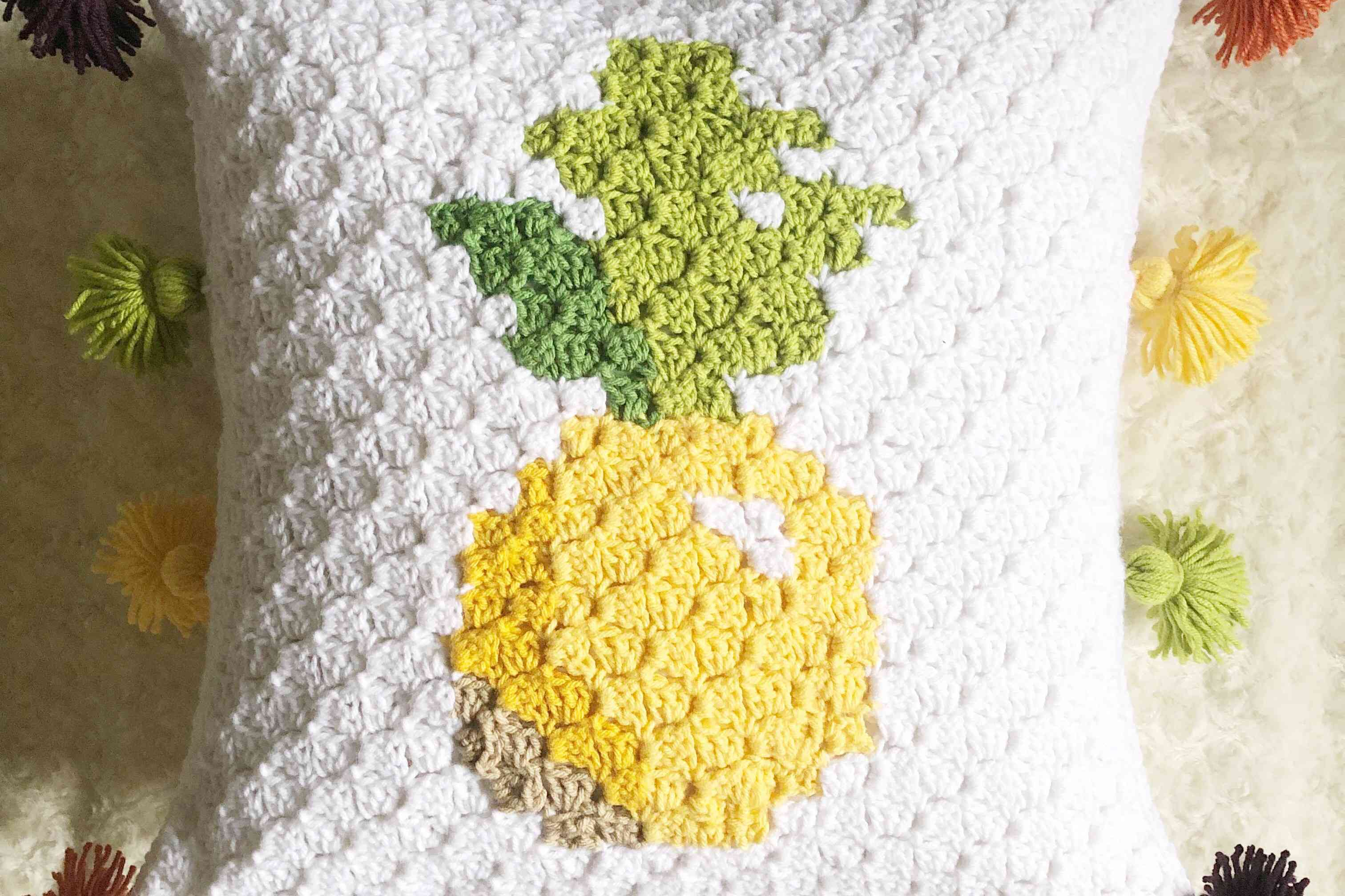 C2C Plush Pineapple Pillow Crochet Pattern