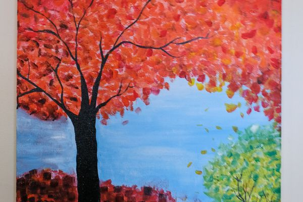 fall tree painting