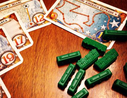 Ticket to Ride game pieces