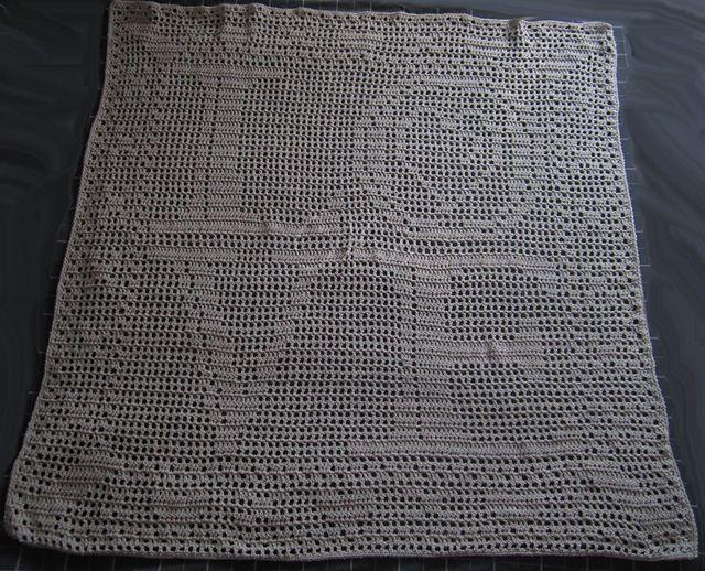 Love and Kisses Filet Crochet Free Chart