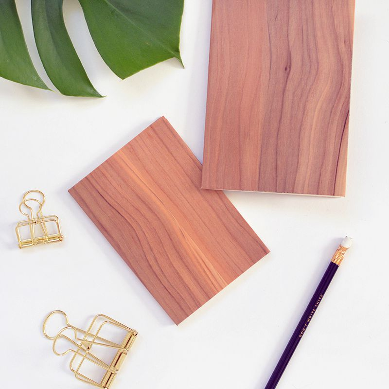 light wood covered notebook