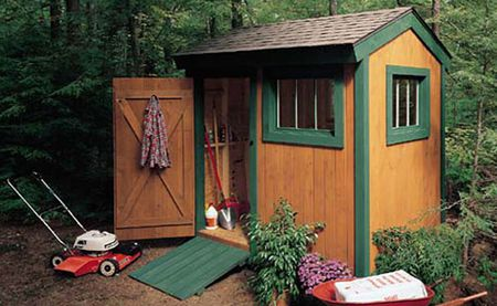 Brown shed with green trim - 20 Free Shed Plans That Will Help You DIY A Shed