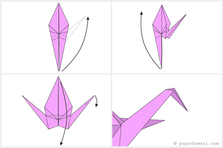 Easy Origami Crane Tutorial 05