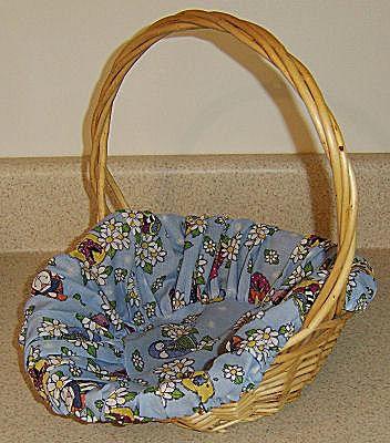 Finished fabric basket liner