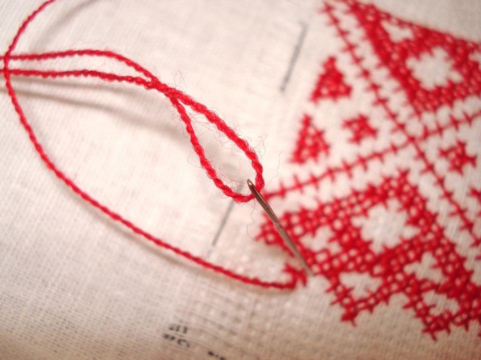 cross-stitch red thread
