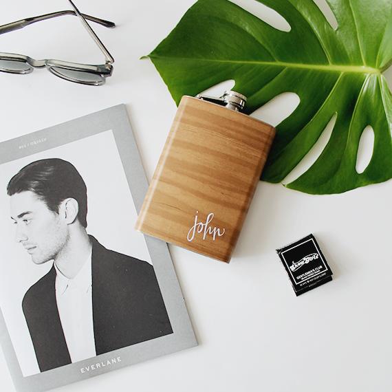 DIY Personalized Wood Grain Flask