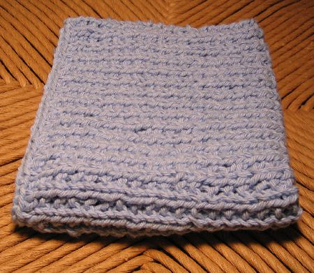 Free Knitting Pattern Broken Rib Washcloth
