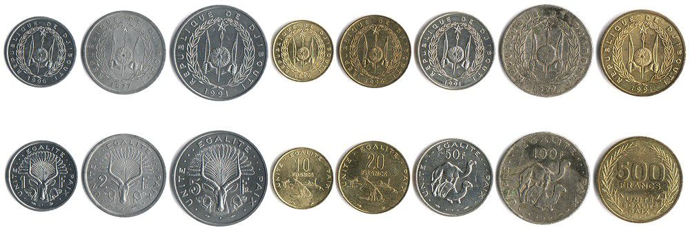 These coins are currently circulating in Djibouti as money.