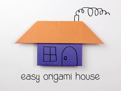 Try This Easy Origami House Tutorial For Kids