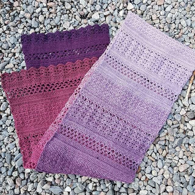 Ombre Crochet Scarf Free Pattern