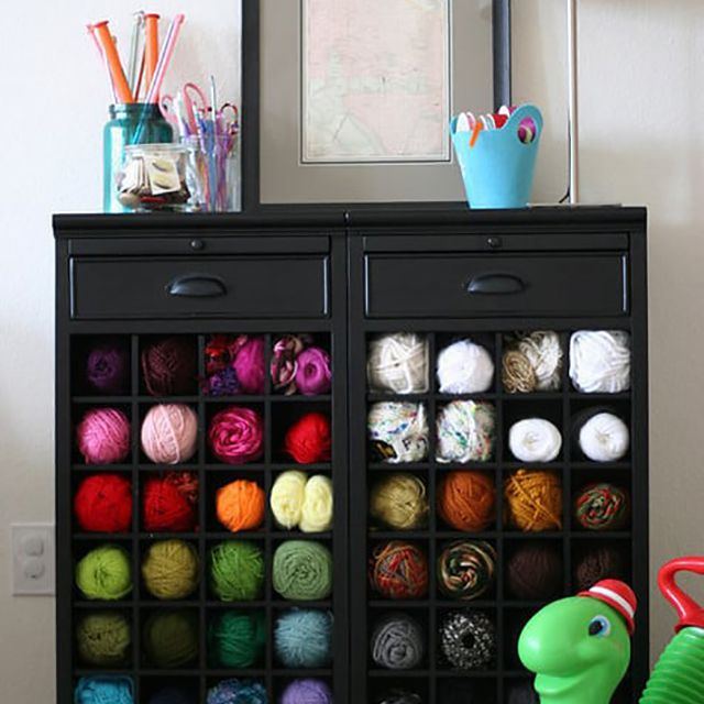 diy yarn storage