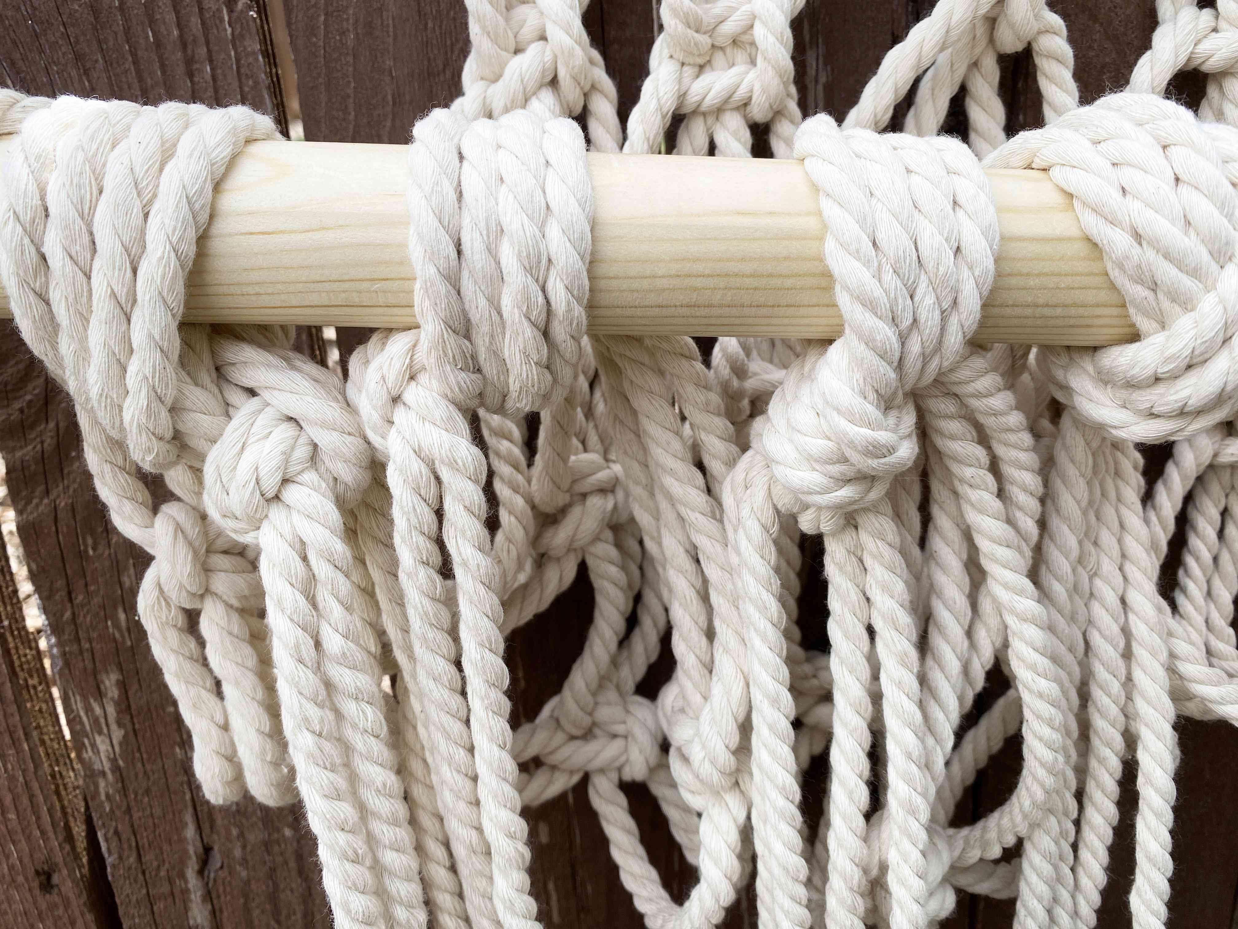 A close-up of knots