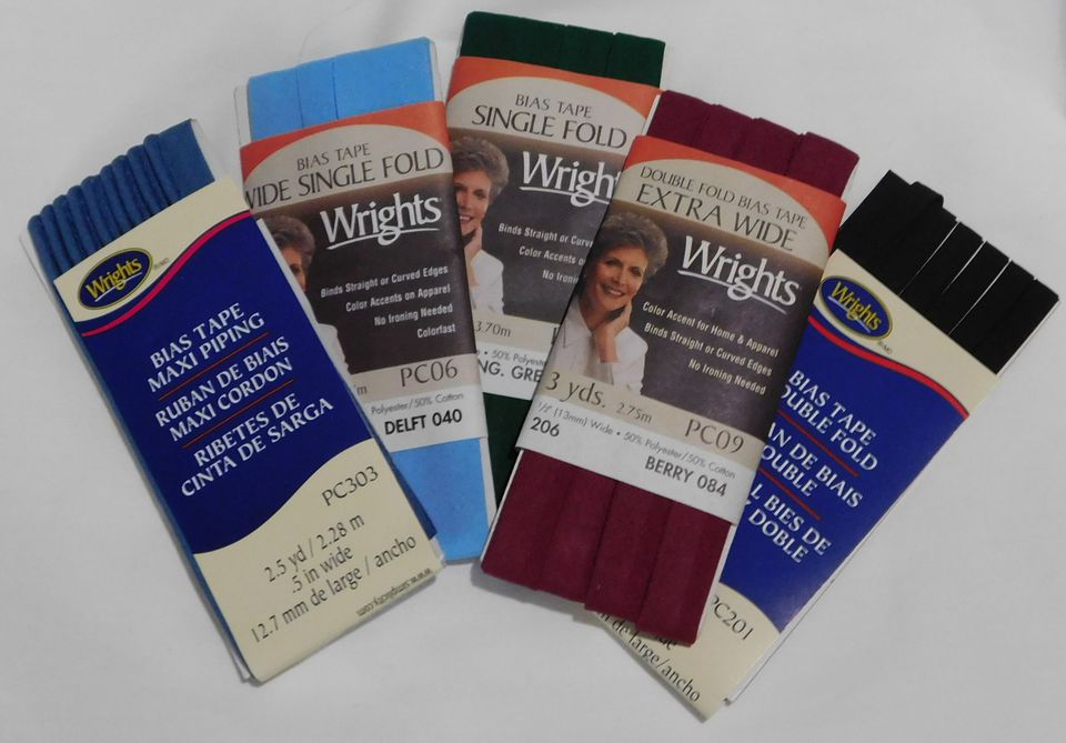 An Assortment of Bias Tape Packages