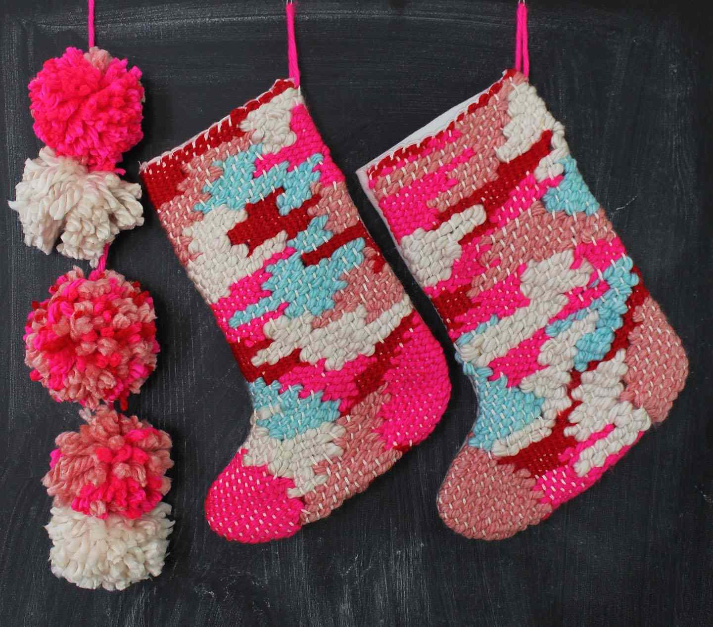 DIY Woven Stockings