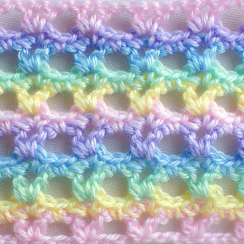 Lacy Interrupted Crochet V Stitch With Pictures