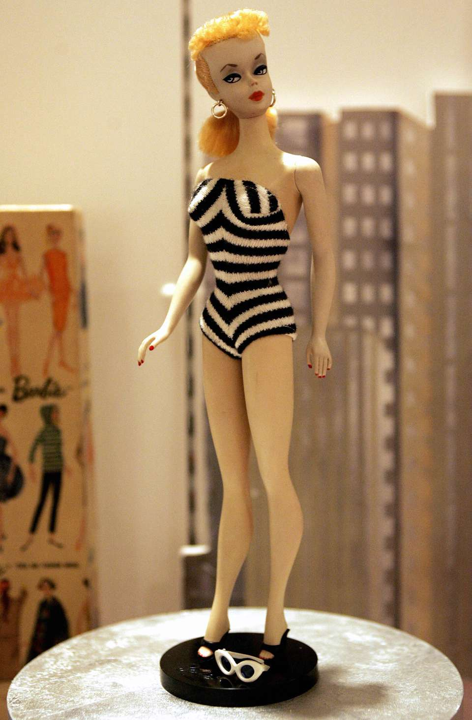original No. 1 Barbie doll is displayed at the