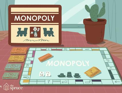 Illustration of vintage Monopoly board