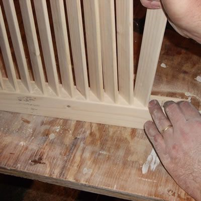 Inserting The Louver Slats