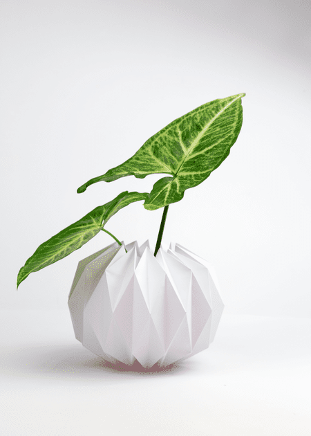 Diy origami plant pot covers origami pot cover tutorial completed cover mightylinksfo