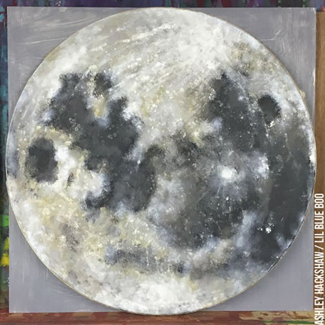 painting a full moon