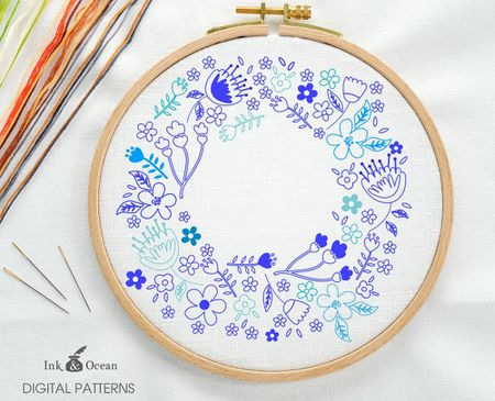 60 Wreath Embroidery Patterns For Any Time Of Year Gorgeous Floral Embroidery Patterns