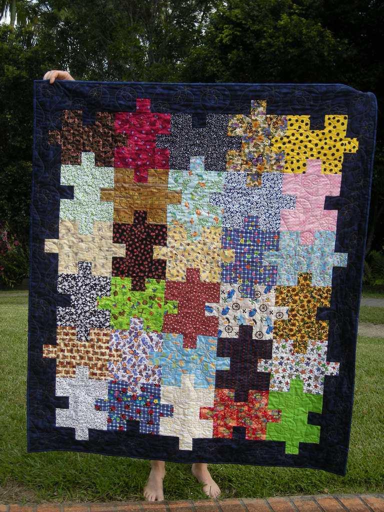 Resultado de imagem para Easy Jigsaw Puzzle Quilt Pattern