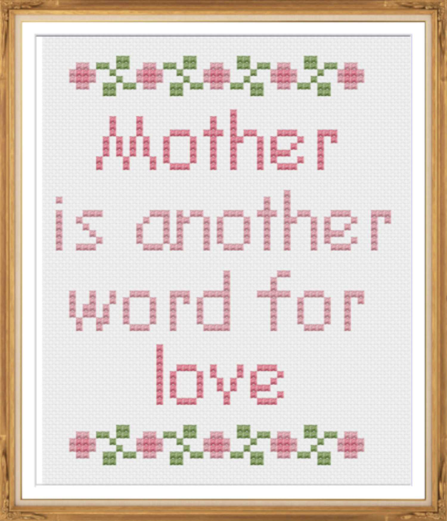 10 Cross Stitch Patterns to Celebrate Mom