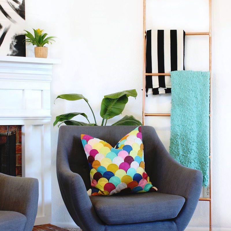 DIY Copper Blanket Ladder