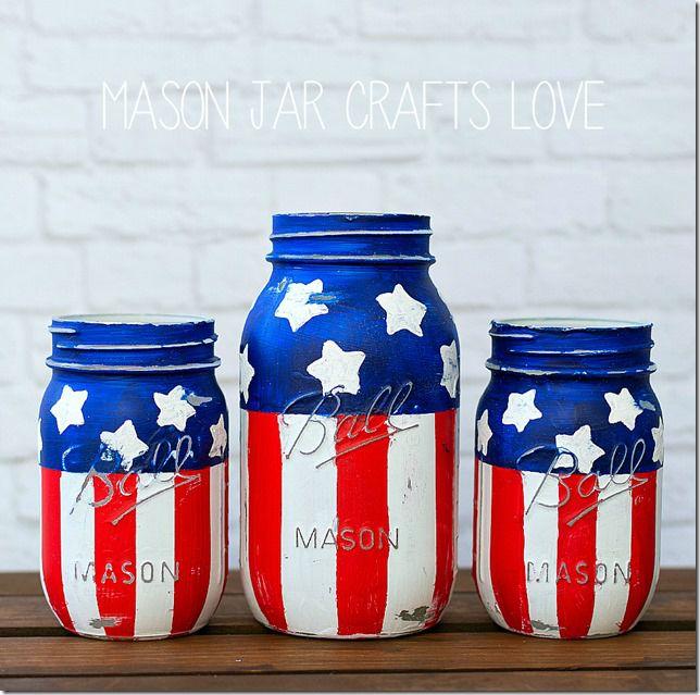 Stars & Stripes Mason Jars