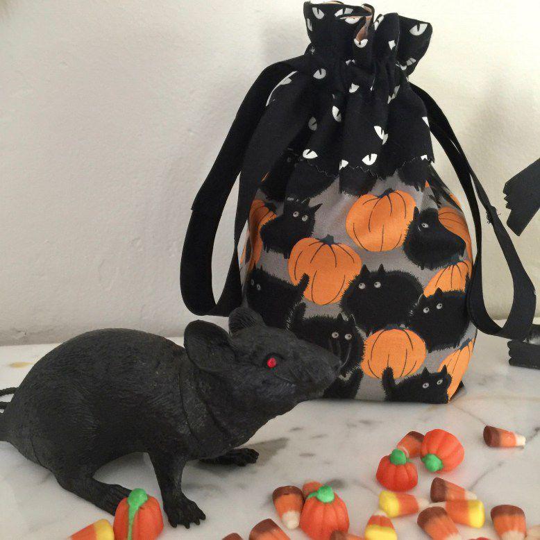 Drawstring halloween bag