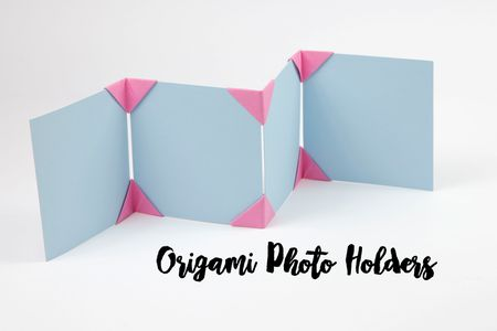 Easy Origami Photo Holders Tutorial