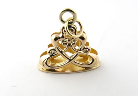 Vintage 1/10 12K Yellow Gold Filled Locket Pocket Watch Fob Simmons.