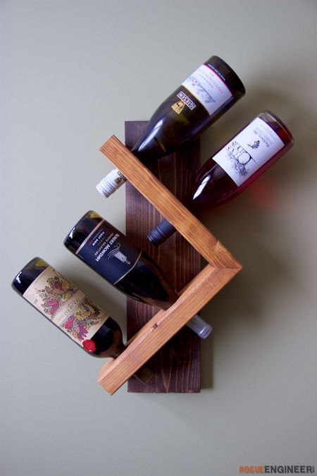 13 free diy wine rack plans you can build today a simple diy wine rack on the wall solutioingenieria Image collections