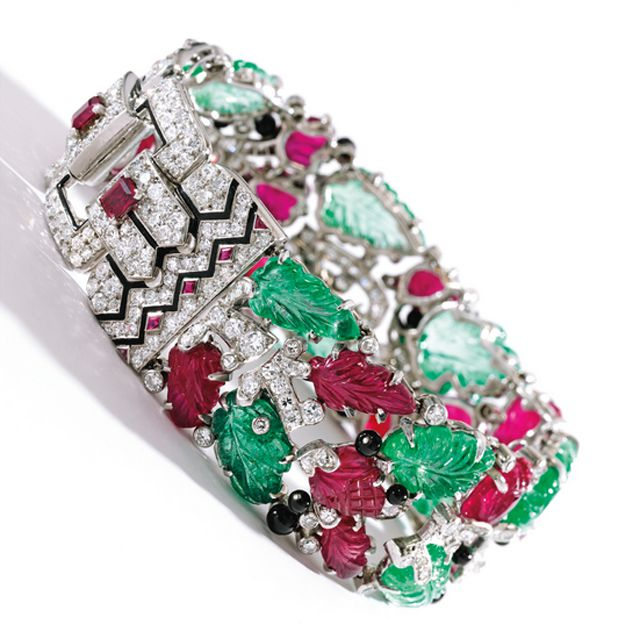 """Cartier """"Tutti Frutti"""" bracelet, made in 1928, sold by Sotheby's for $2.1 Million"""
