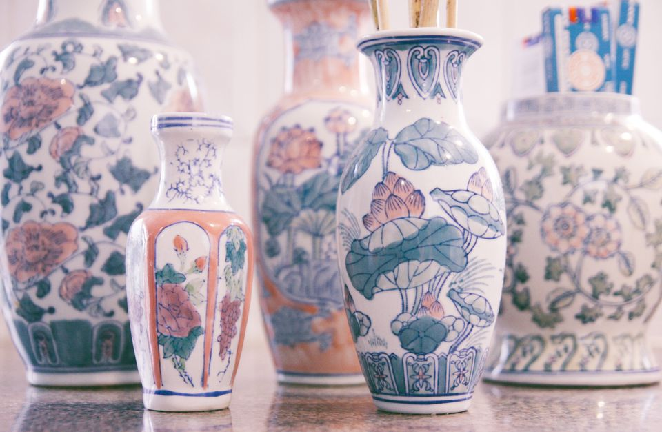 Handpainted vases