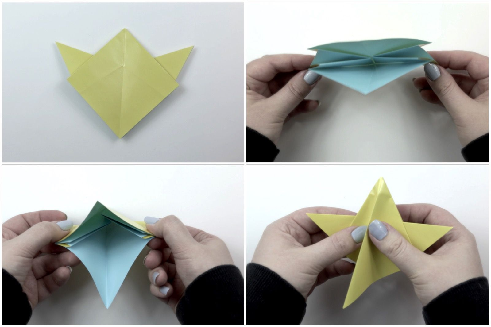 easy origami star tutorial 05