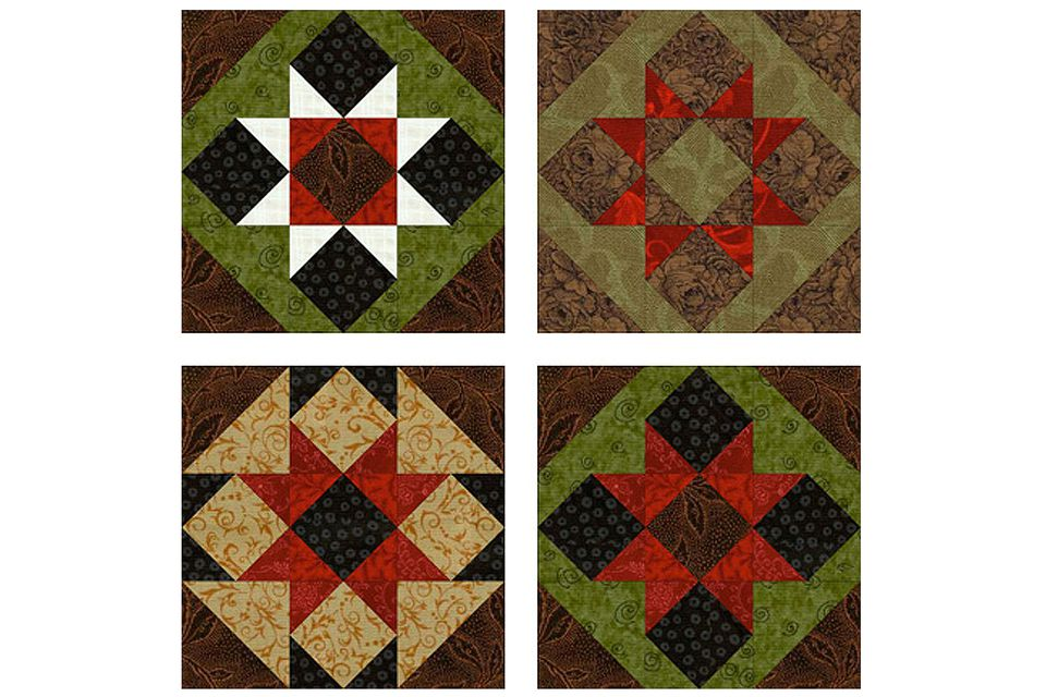 Sawtooth Patchwork Quilt Block Pattern