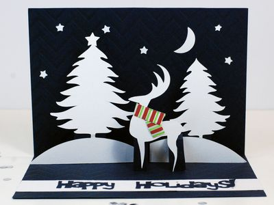 diy reindeer christmas pop up card card making