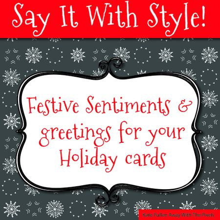 sentiments and greetings for christmas cards - Photo Xmas Cards