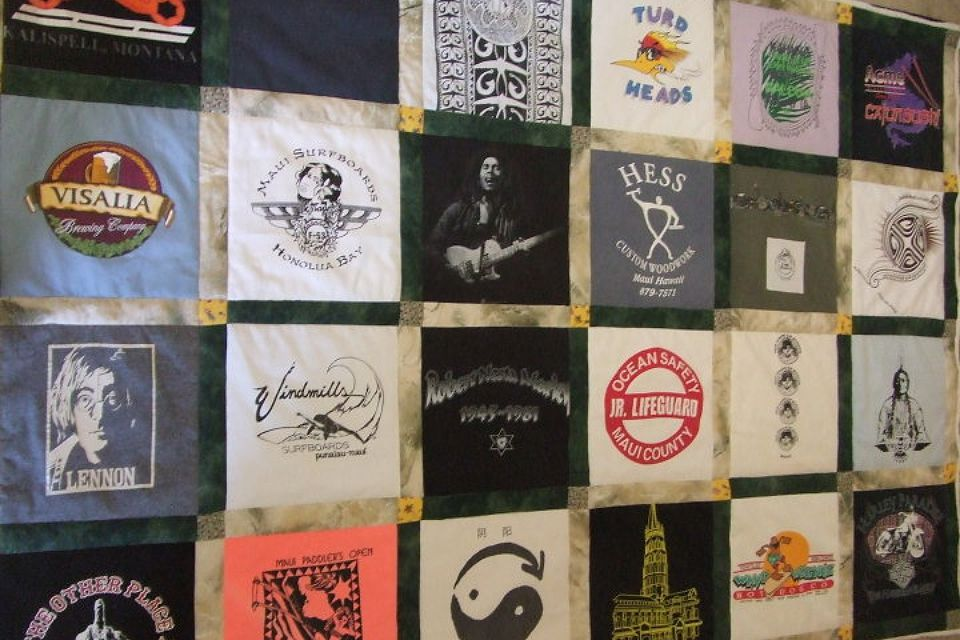 Maui Brother T Shirt Quilt