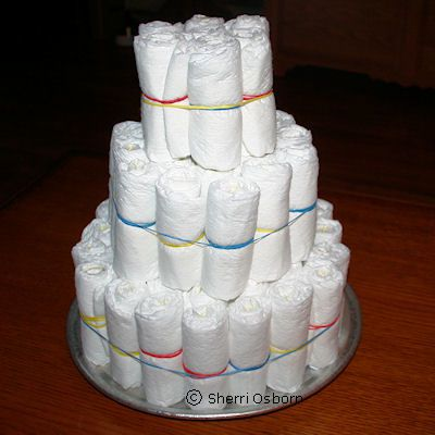 How to Make the Top of the Diaper Cake
