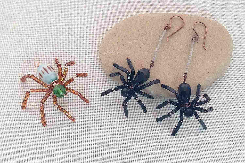 Halloween Beaded Spider Jewelry
