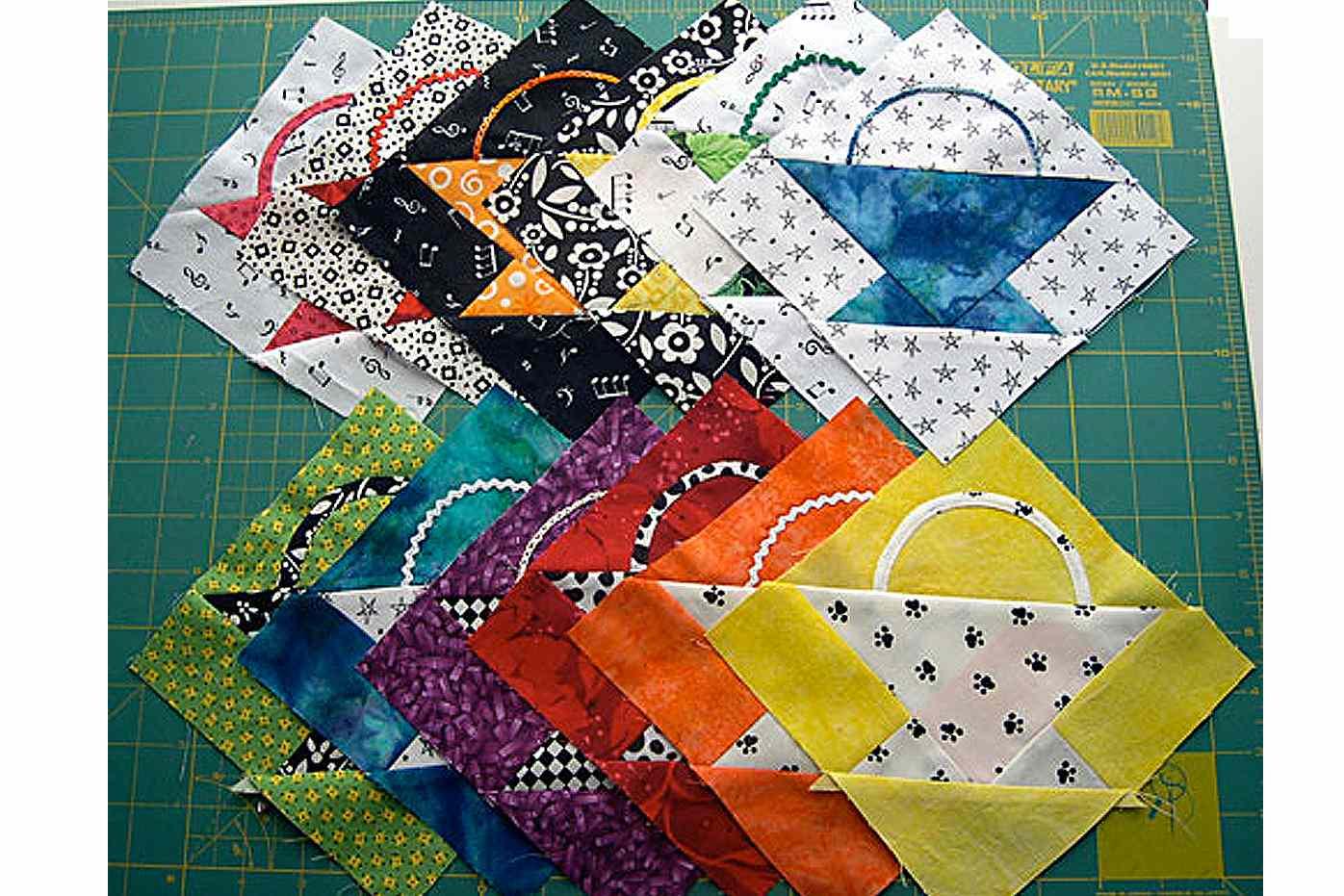"Easy 6"" Basket Quilt Block Pattern"