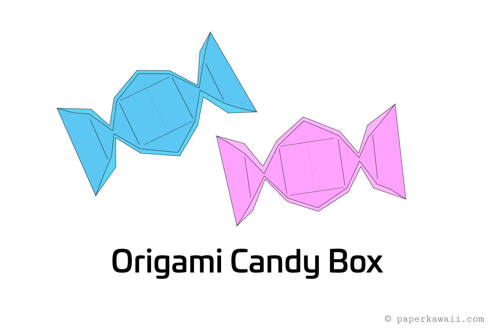 Origami Candy Box Instructions Central Lookup Model Diagrams Stepbystep