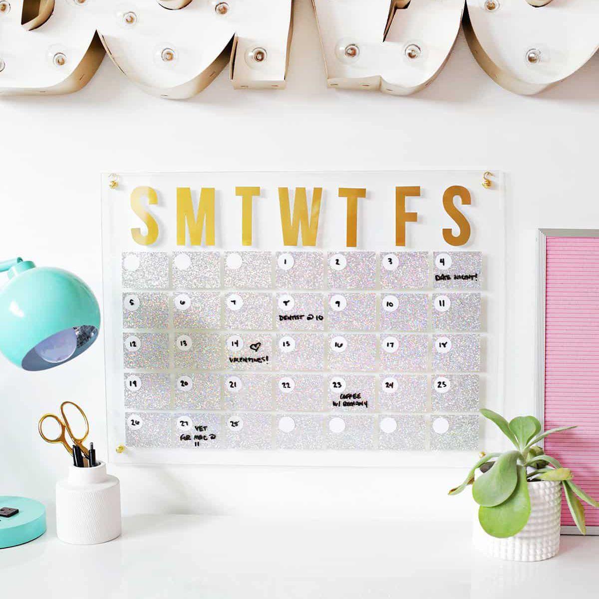 Glitter Holographic Calendar