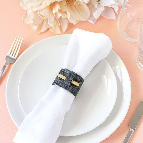 DIY Felt Napkin Rings